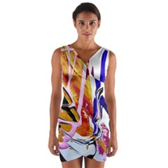 Immediate Attraction 6 Wrap Front Bodycon Dress