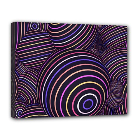 Abtract Colorful Spheres Canvas 14  X 11