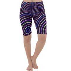 Abtract Colorful Spheres Cropped Leggings