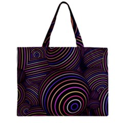 Abtract Colorful Spheres Zipper Mini Tote Bag