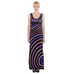 Abtract Colorful Spheres Maxi Thigh Split Dress