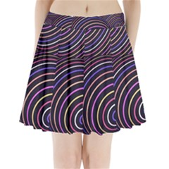 Abtract Colorful Spheres Pleated Mini Skirt