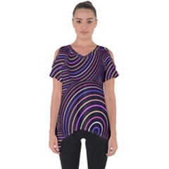 Abtract Colorful Spheres Cut Out Side Drop Tee