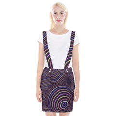 Abtract Colorful Spheres Braces Suspender Skirt