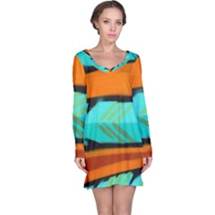 Abstract Art Artistic Long Sleeve Nightdress by Modern2018