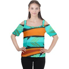 Abstract Art Artistic Cutout Shoulder Tee