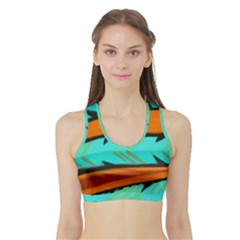 Abstract Art Artistic Sports Bra With Border by Modern2018
