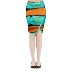 Abstract Art Artistic Midi Wrap Pencil Skirt