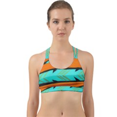 Abstract Art Artistic Back Web Sports Bra