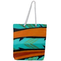 Abstract Art Artistic Full Print Rope Handle Tote (large)