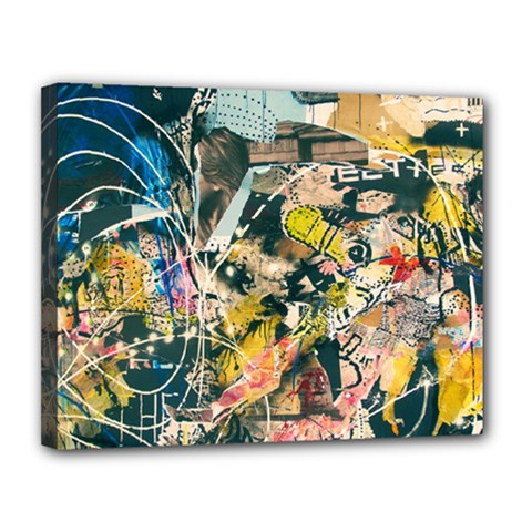 Abstract Art Berlin Canvas 14  X 11