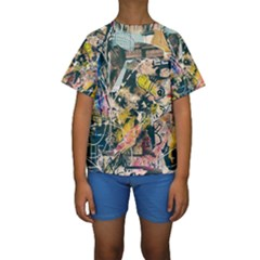 Abstract Art Berlin Kids  Short Sleeve Swimwear