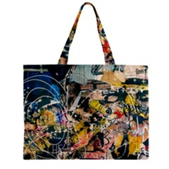 Abstract Art Berlin Zipper Mini Tote Bag