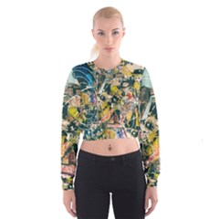 Abstract Art Berlin Cropped Sweatshirt