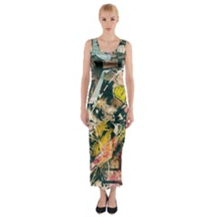 Abstract Art Berlin Fitted Maxi Dress