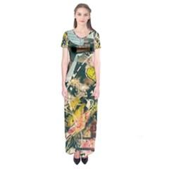 Abstract Art Berlin Short Sleeve Maxi Dress