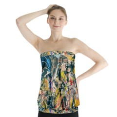 Abstract Art Berlin Strapless Top