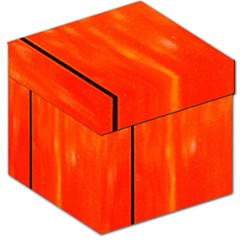 Abstract Orange Storage Stool 12