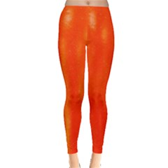Abstract Orange Leggings  by Modern2018