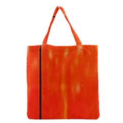 Abstract Orange Grocery Tote Bag by Modern2018