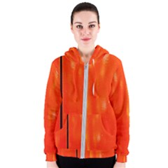 Abstract Orange Women s Zipper Hoodie