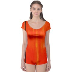 Abstract Orange Boyleg Leotard