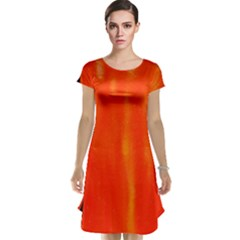 Abstract Orange Cap Sleeve Nightdress