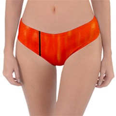 Abstract Orange Reversible Classic Bikini Bottoms by Modern2018
