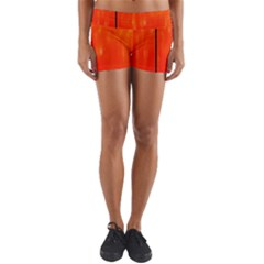 Abstract Orange Yoga Shorts by Modern2018
