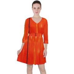 Abstract Orange Ruffle Dress by Modern2018