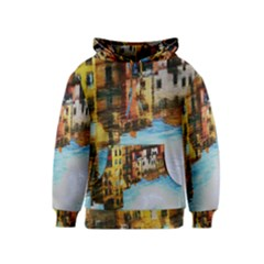 Architecture Art Blue Kids  Pullover Hoodie by Modern2018
