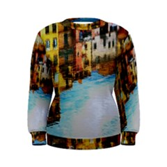 Architecture Art Blue Women s Sweatshirt