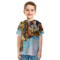 Architecture Art Blue Kids  Sport Mesh Tee