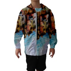 Architecture Art Blue Hooded Wind Breaker (kids)