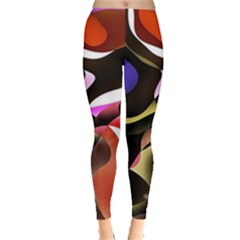Abstract Full Colour Background Leggings  by Modern2018