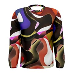 Abstract Full Colour Background Men s Long Sleeve Tee