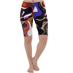 Abstract Full Colour Background Cropped Leggings