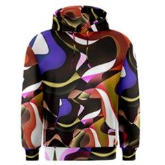 Abstract Full Colour Background Men s Pullover Hoodie