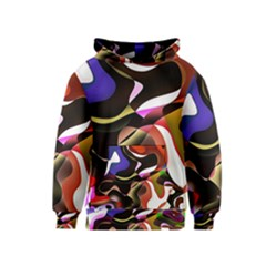 Abstract Full Colour Background Kids  Pullover Hoodie by Modern2018