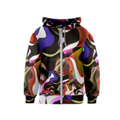 Abstract Full Colour Background Kids  Zipper Hoodie by Modern2018