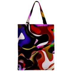 Abstract Full Colour Background Zipper Classic Tote Bag