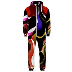 Abstract Full Colour Background Hooded Jumpsuit (men)