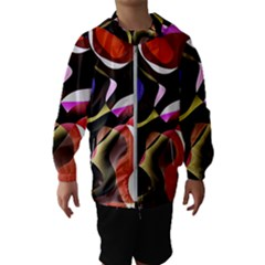 Abstract Full Colour Background Hooded Wind Breaker (kids)