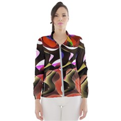 Abstract Full Colour Background Wind Breaker (women) by Modern2018