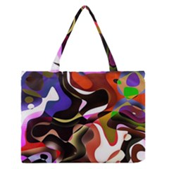 Abstract Full Colour Background Zipper Medium Tote Bag