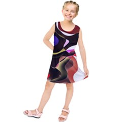 Abstract Full Colour Background Kids  Tunic Dress