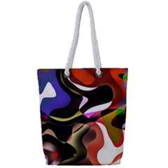 Abstract Full Colour Background Full Print Rope Handle Tote (small)