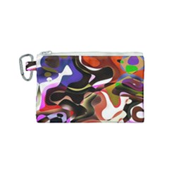 Abstract Full Colour Background Canvas Cosmetic Bag (small)