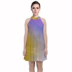Abstract Smooth Background Velvet Halter Neckline Dress  by Modern2018