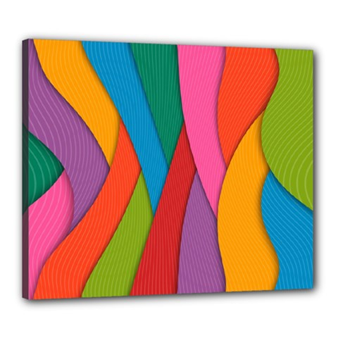 Abstract Background Colrful Canvas 24  X 20
